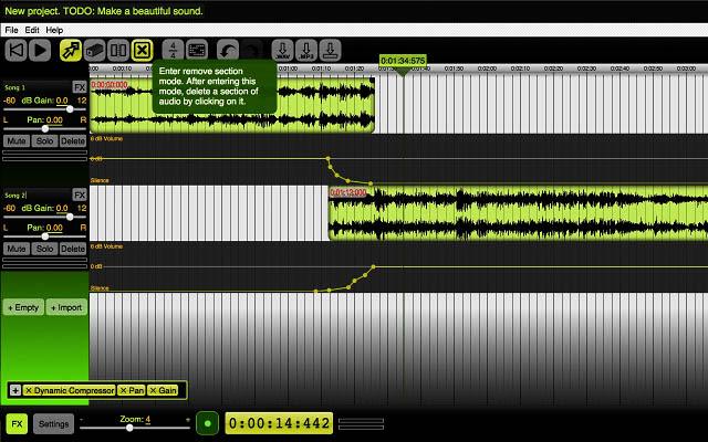 Online Beautiful Audio Editor