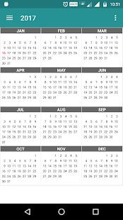 Calendar Daily - Planner 2018 - náhled