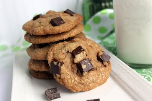"Chocolate Chunk Cookie Butter Cookies ""The cookie's rich and buttery with big..."