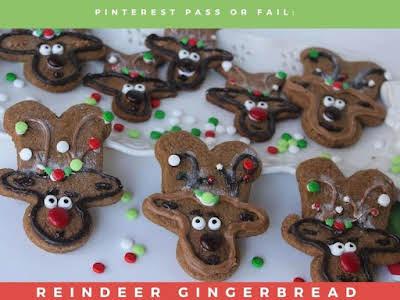 Pinterest Pass or Fail: Reindeer Gingerbread Cookies
