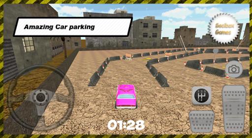 3D市ピンクの駐車場