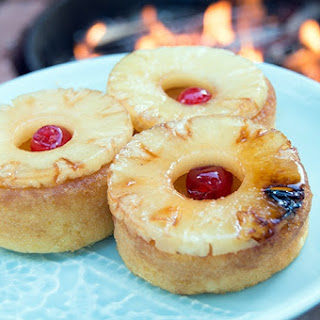 Pineapple Upside Down Bonfire Cake