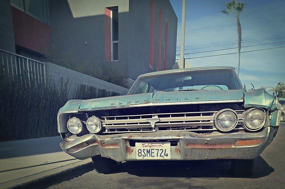 leached, California, Junk Car, Oldsmobile, Vintage Car
