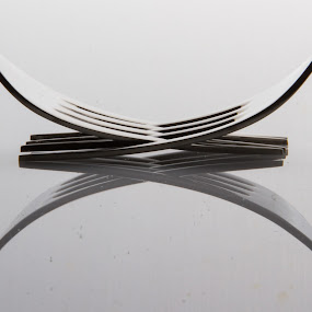 Cross Fork by Ricardo Marques - Artistic Objects Cups, Plates & Utensils ( fork, simetric, shine, reflex, cross, kitchen utensil, silverware, cutlery )