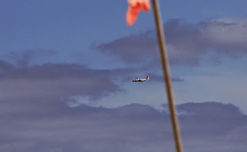 Photo: It is a Hercules plane which had flown for 3,5 hours from the east coast of USA to reach us!