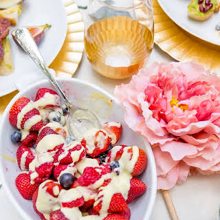 Berries and Creme Anglaise.