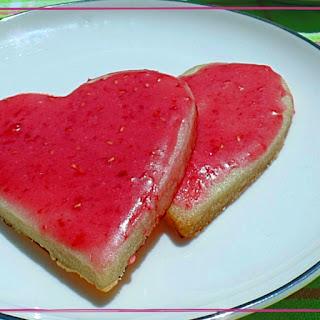 Raspberry Rose Sugar Cookies