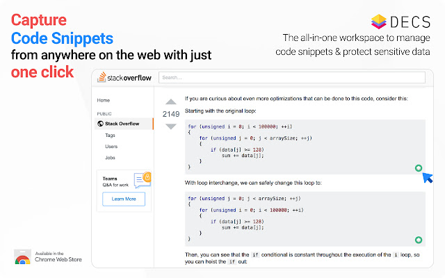DECS - Code Snippets Manager