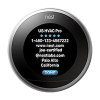 Nest thermostat generation 3 pro-contact information.