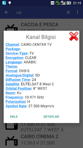 Download Eutelsat Frequency List Google Play softwares