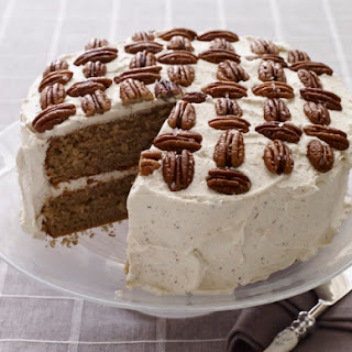 Spice Layer Cake with Browned Butter Frosting & Salted Pecans