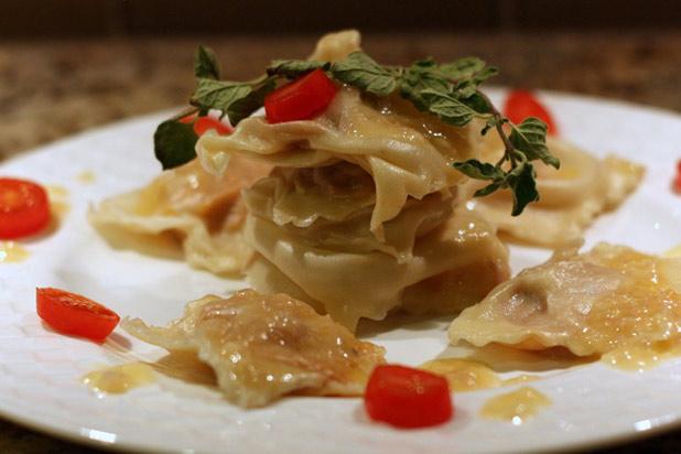 Photo: Butternut Squash Ravioli in Roasted Garlic Beurre Blanc Recipe: http://www.thedailymeal.com/7-creative-butternut-squash-recipes-slideshow#3