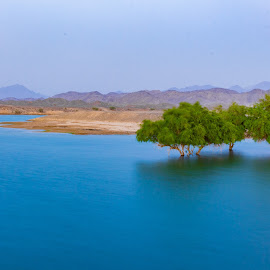 Serenity in the desert by Ansari Joshi - Landscapes Mountains & Hills ( landscape photography, mountains, waterscapes, hills, long exposure, blue hour, serene, water, landscape,  )