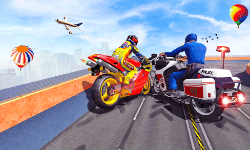 Police Bike Mega Ramp Impossible Bike Stunt Games painmod.com screenshots 2