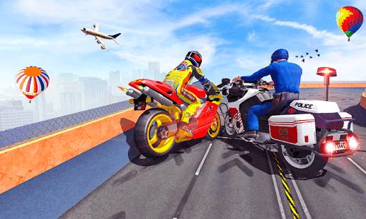 Police Bike Mega Ramp Impossible Bike Stunt Games