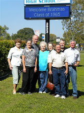 Photo: Lyn (Reeves) Griffiths, Carol (Craven) Barnes, John Jones, Rosemary (Worthy) Dooley, Ann (McLean) Adams, Terry Dietz, Bill Boon, Tom Sumner