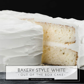 Bakery Style White Out of the Box Cake.