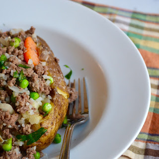 Shepherd's Pie Stuffed Baked Potato.