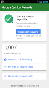 Google Opinion Rewards: miniatura de captura de pantalla