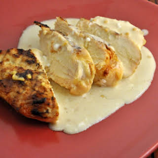 Grilled Chicken Breasts with Mustard Sauce.