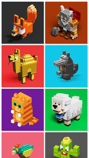 Voxly - 3D Pixel Art, coloring book app (apk) free download for Android/PC/Windows screenshot