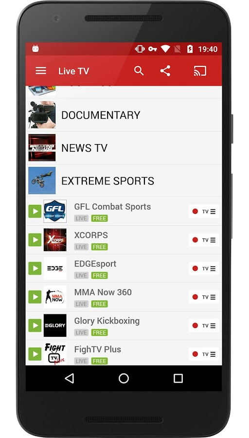 Live TV FilmOn Free TV DLNA- screenshot