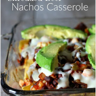 Recipe for Shredded Beef Nachos Casserole