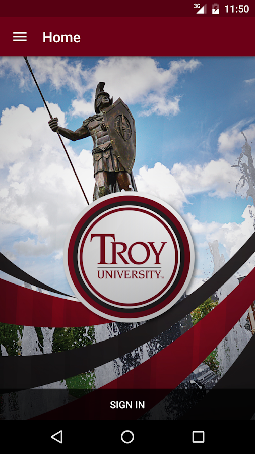 Troy University- screenshot