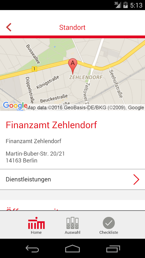 Berlin.de Service-App- screenshot