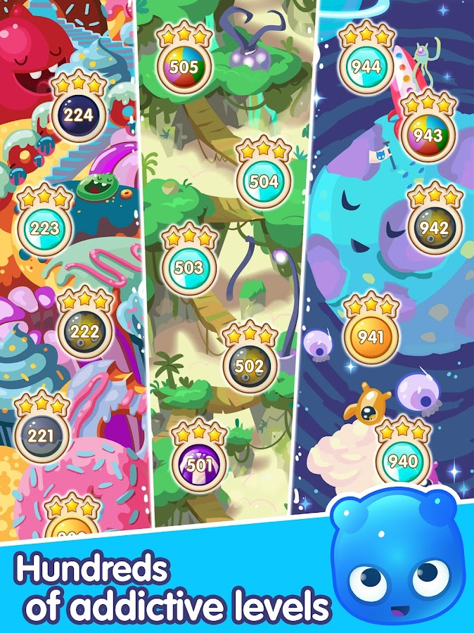 Screenshots of Jelly Splash - Line Match 3 for iPhone