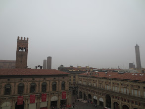 Photo: View from the Basilica San Petronio scaffolding