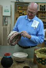 Photo: Stan Sherman with an in-progress segmented vessel