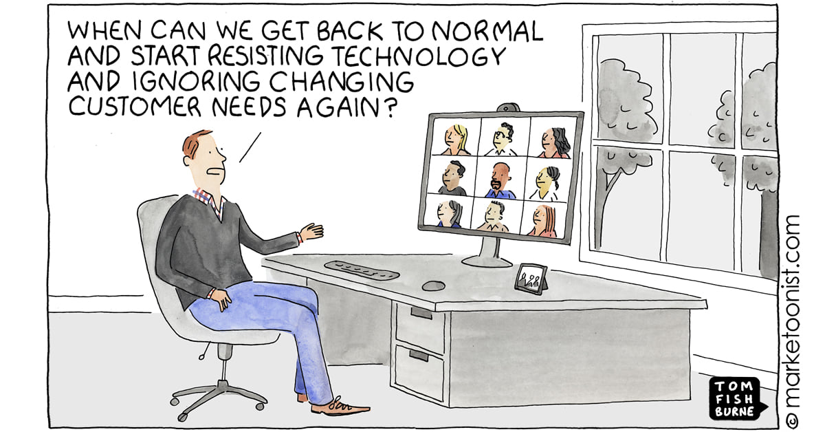 Marketoonist going back to normal after COVID-19