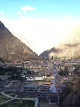 Photo: A shot of the village and market from the top of Ollantaytambo Archaelogical Site