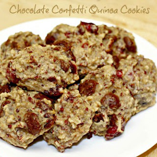 Chocolate Confetti Quinoa Cookies