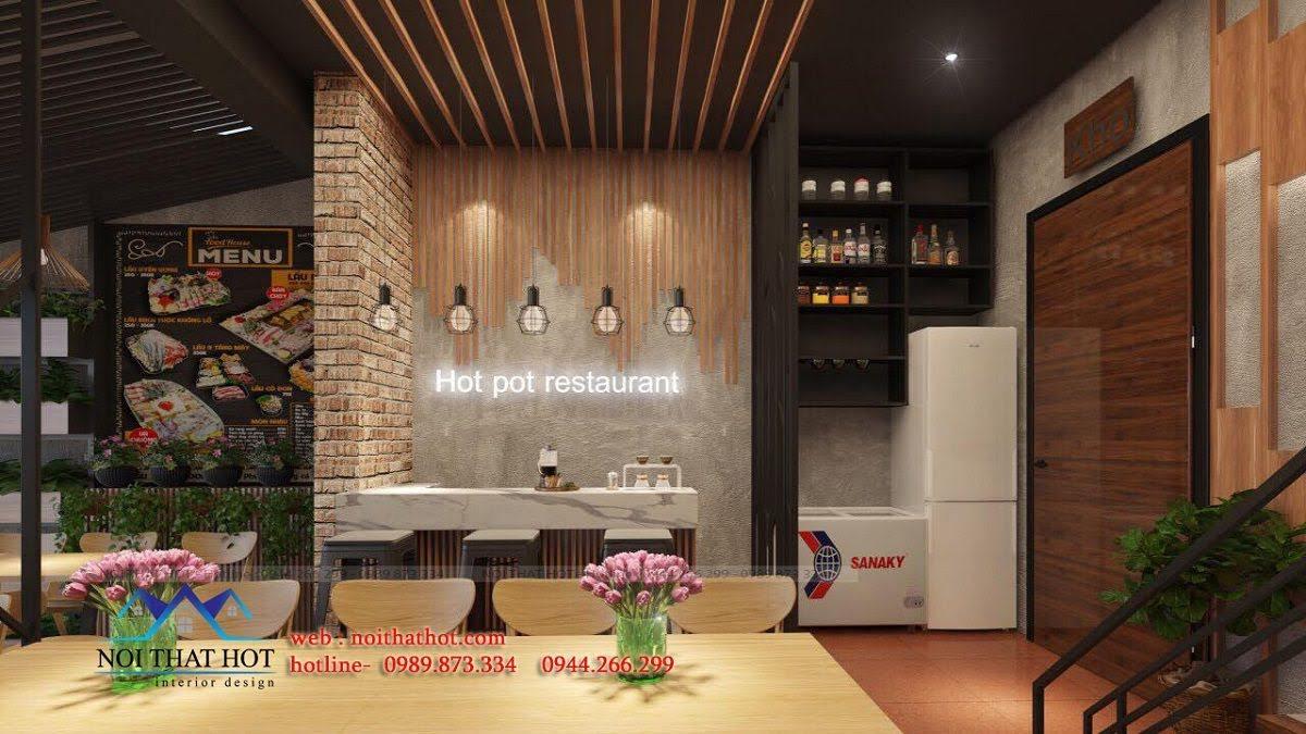 thiết kế nhà hàng lẩu nướng Đông Anh 6