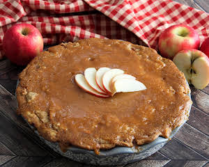 Caramel Glazed Soft Apple Pie