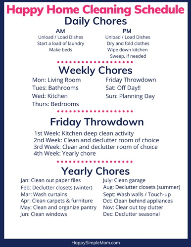 Click for FREE Cleaning Schedule