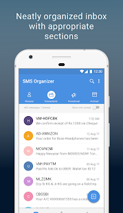 SMS Organizer - Clean, Blocker, Reminders & Backup- screenshot thumbnail