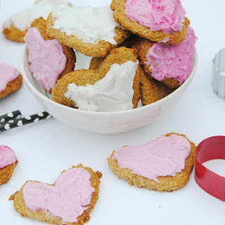 Frosted Paleo Valentines Day Sugar Cookies