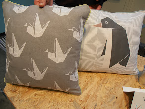 Photo: Origami motifs on pillows by Aspegren, Denmark www.aspegren.eu #ambiente14
