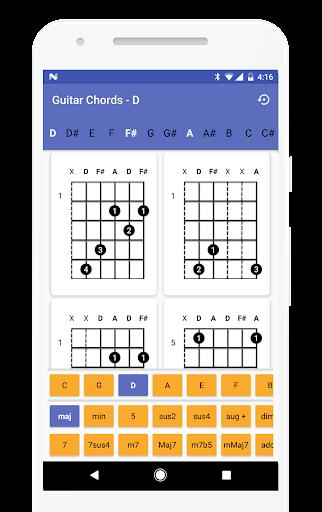Guitar Chords Finder - No Ads! 1.0.11 screenshots 1