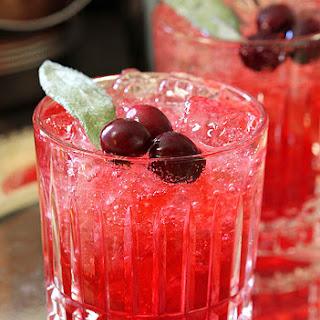 Cranberry Sage Cocktail.