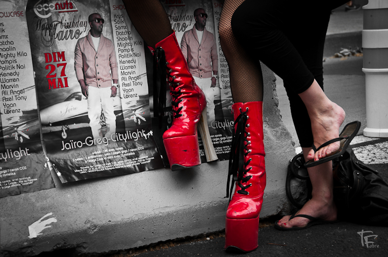 Photo: When two styles of shoes meet together what happen ?  This is my little contribution to #shoesmonday with our lovely +Laura Harding+Olga Kafka+Mee Ming Wongand our wonderful slaves +Pablo Luis Gonzalez+Paul van de Looand brotha+Bernd Schaefersand also me