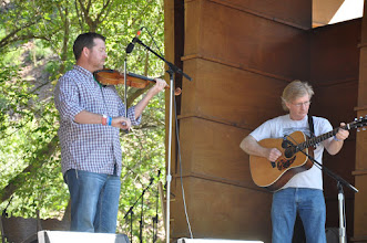 Photo: Chuck Hugenberg and Lonny Lewis during the fiddle contest