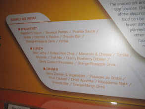 Photo: No paste or Tang here, it;s all about the appetizing menu on the space station!