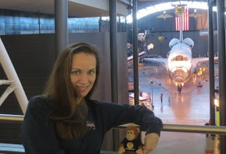Photo: With ThinkGeek Timmy over the space hangar