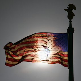US Flag by Dominic Jacob - Artistic Objects Other Objects ( flash, flag, us, usa, sun,  )
