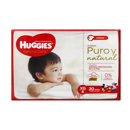 Pañal Huggies Natural Care - XG