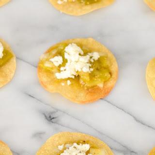 Mini Baked Tomatillo Tostadas